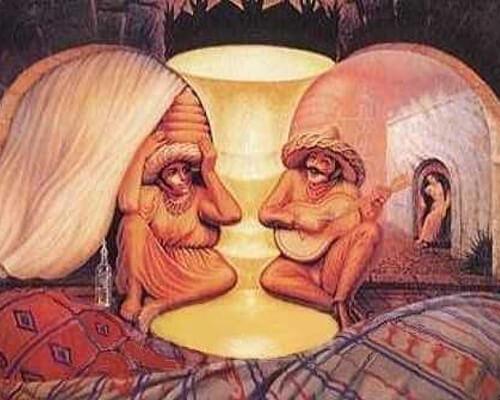 ilusiones opticas: son dos ancianos?