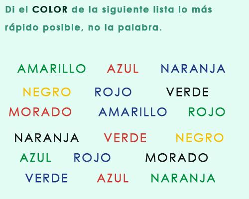 ilusiones opticas: palabras y colores