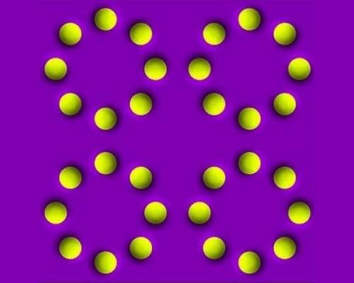 ilusiones opticas: se mueven las bolitas?