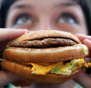 comida rápida y la depresión