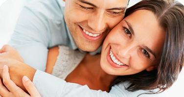 relación de pareja feliz